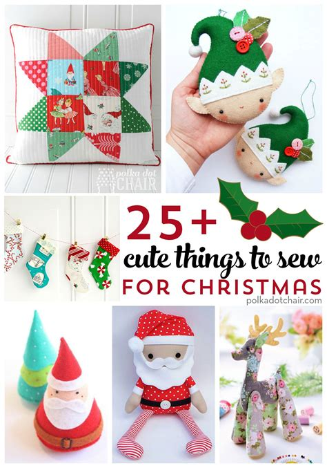 more than 25 cute things to sew for christmas cute