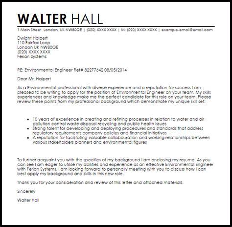 Environmental Engineer Cover Letter Sample   LiveCareer