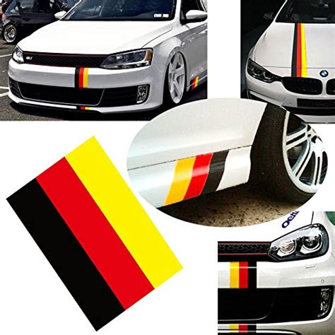 audi germany flag ijdmtoy 1 10 quot germany flag color stripe decal sticker