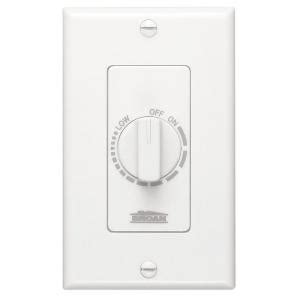 broan electronic variable speed fan in white 57w