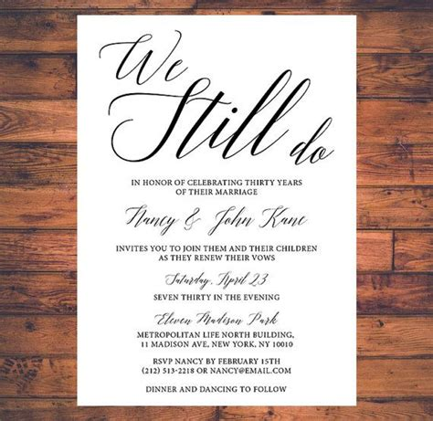 Wedding Anniversary Theme Song by Best 25 Vow Renewal Invitations Ideas On