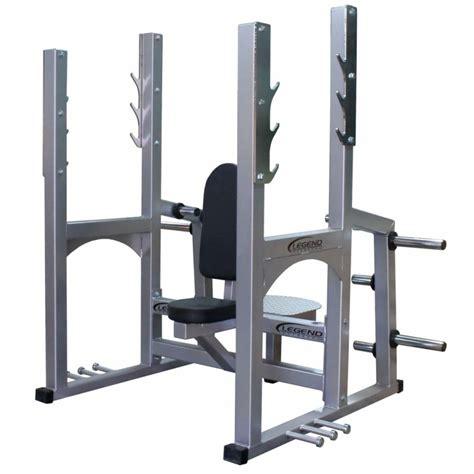 bench shoulder press legend fitness pro series olympic shoulder press bench 3242