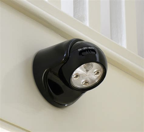 battery led motion sensor light auraglow battery operated motion activated pir sensor