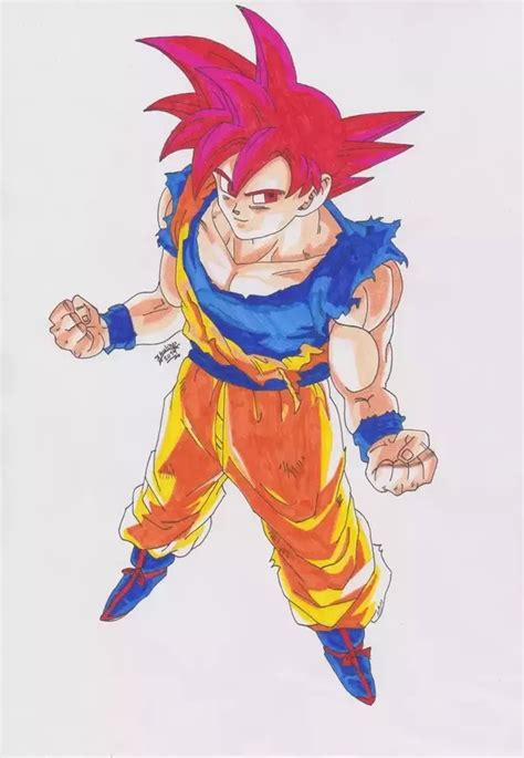imagenes de goku red at first goku s hair turns red when he turned to a super