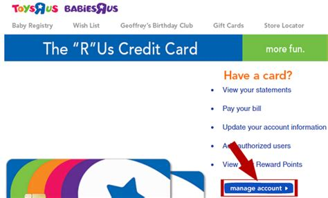 toys r us credit card make payment toys r us credit card login at ruscreditcard guide