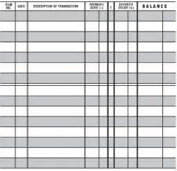 5 easy to read checkbook transaction register large print