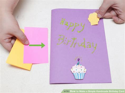How To Make A Handmade - how to make a simple handmade birthday card 15 steps