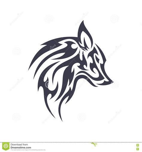 magic tattoo logo vector wolf silhouette vintage wolf face logo emblem royalty