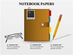 notebook template powerpoint notebooks papers powerpoint templates and backgrounds
