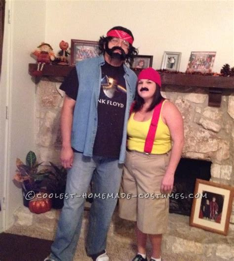 funny  minute couples costume idea cheech  chong