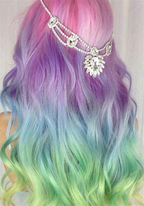 pastel rainbow hair 30 awesome hair dye ideas rainbow dyed hair dyed hair