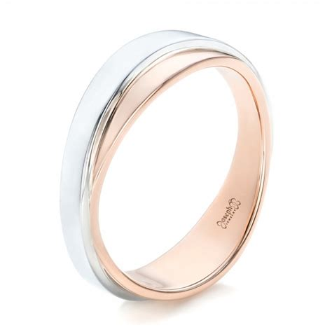 Two Tone Wedding Band custom two tone s wedding band 102467