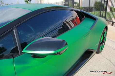 Lamborghini Side Mirror Impressive Wrap Lamborghini Huracan In Gr 252 N Chrom