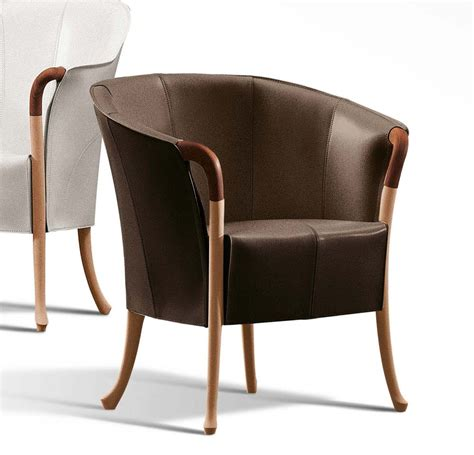 Saddle Armchair by Giorgetti Progetti Saddle Leather 64230 Armchair Deplain
