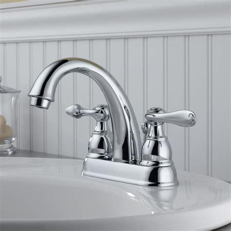 sink faucets bathroom delta windemere centerset bathroom faucet with metal pop up drain reviews wayfair
