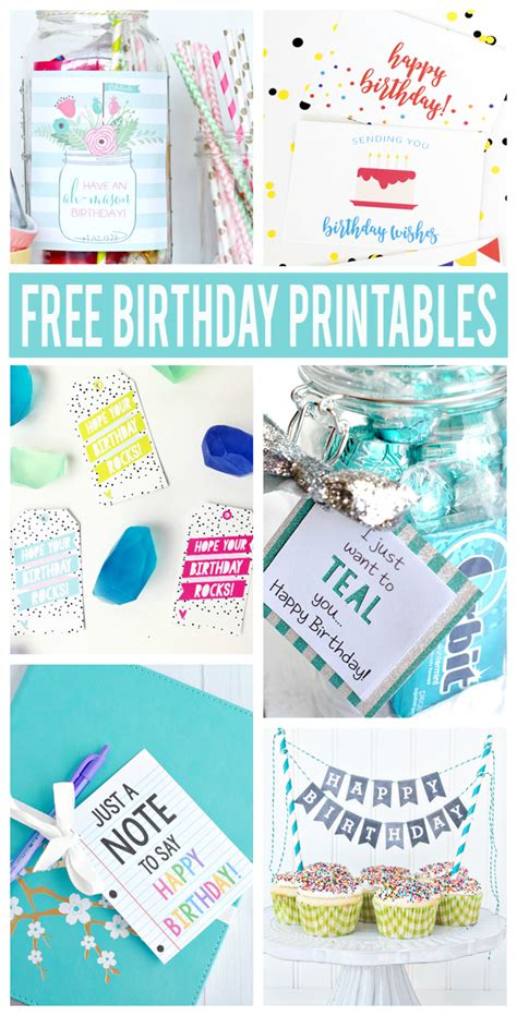 Free Birthday Gift Cards - free birthday printables eighteen25