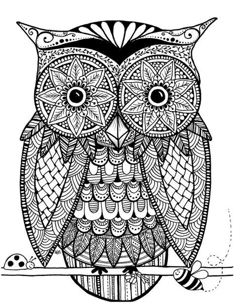 owl zentangle coloring page zentangled owl by flexibledreams on deviantart