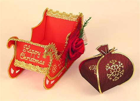 a4 card making templates for santa s magical sleigh