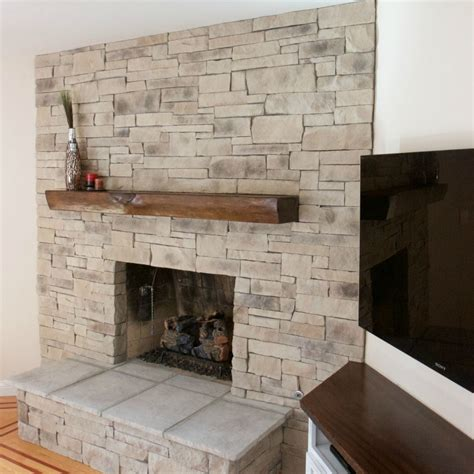Stack Veneer Fireplace by Ledgestone Fireplace Pictures