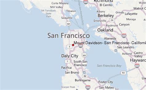 san francisco information map mount davidson san francisco california mountain information