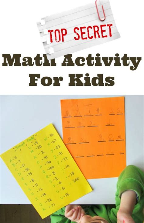 secret activity 87 best images about math on math