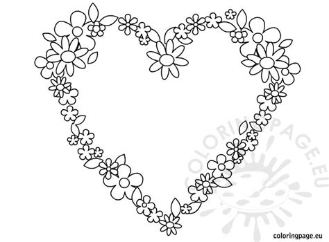 heart flowers coloring