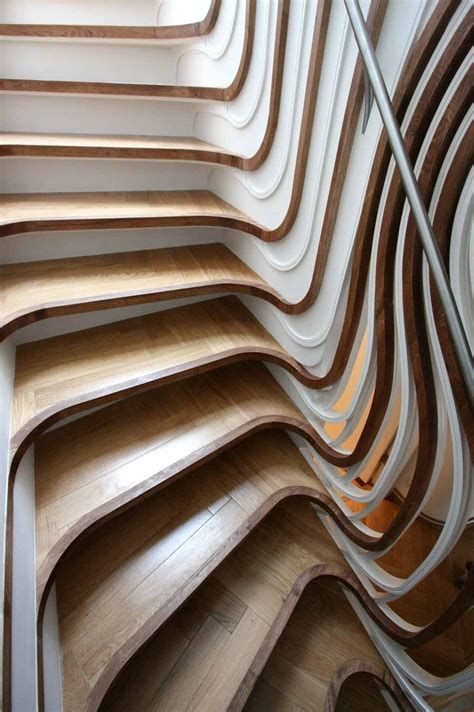 unique staircases unusual curved staircase digsdigs