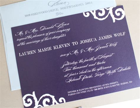 Wedding Invitations Fargo Nd by The Collection Fargo Moorhead Wedding Invitations