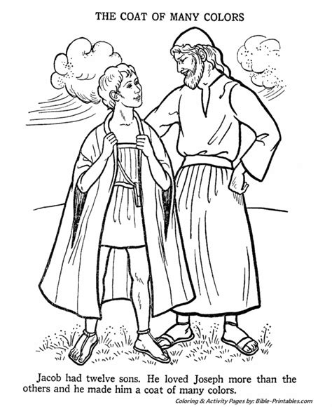 Bible Story Coloring Pages Joseph free coloring pages of joseph his coat