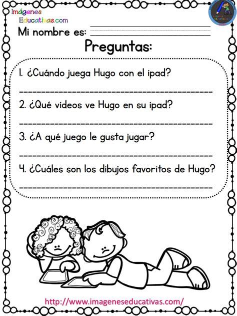 imagenes educativas lectura lecturas comprensivas para primaria noa y hugo 2 7
