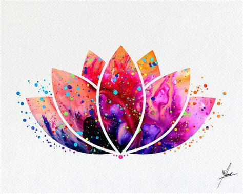 lotus flower symbol lotus flower symbol watercolor illustrations