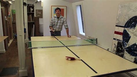 how to a ping pong table a ping pong table out of plywood brokeasshome com