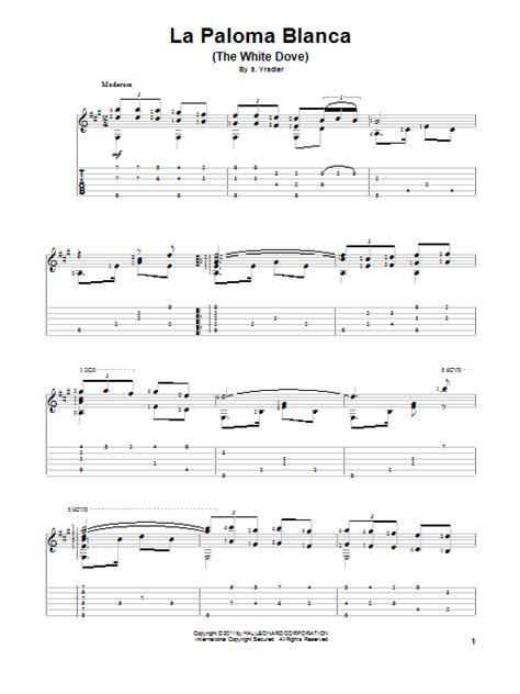 tutorial piano la paloma la paloma blanca the white dove sheet music direct