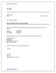 Bank Letter Closing Account Format Letter Format For Bank Account Closing Pdf Cover Letter Templates
