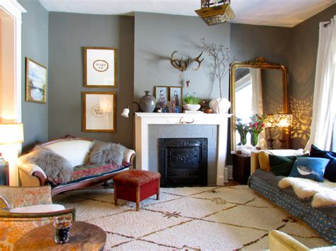 Eclectic Living Rooms | vintage elegance eclectic living room toronto by