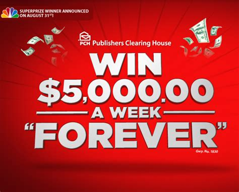 Pch Win 5000 Every Week For Life - who won publishers 5000 a week for 2014 autos post