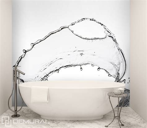 bathroom wall murals uk splashing water bathroom wallpaper mural photo