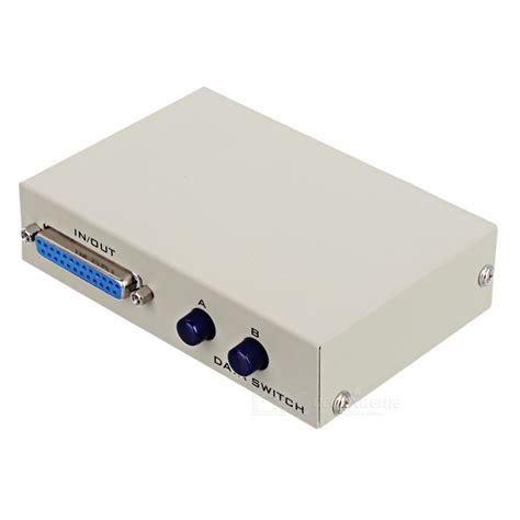 Manual Switch Printer 2 Port Data Switcher 1 2 Usb Murah 2 port manual switch printer switcher adapter grey free shipping dealextreme