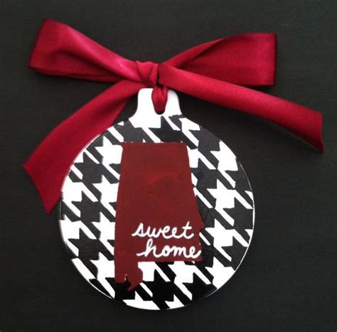 alabama christmas ornament handpainted houndstooth