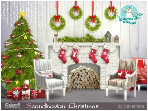 sims 3 christmas decor cc severinka s scandinavian