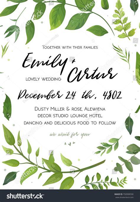 Wedding Card Floral Designs Vector by Wedding Invitation Floral Invite Card Design Stock Vector