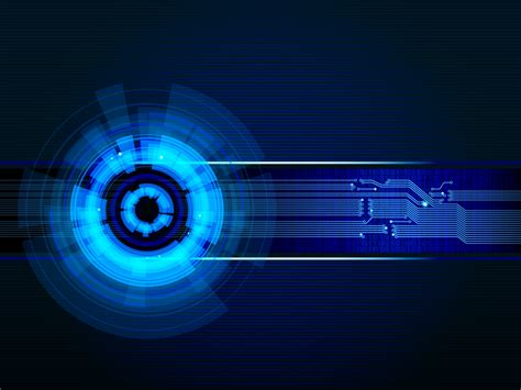 blue light effected technology ppt backgrounds abstract
