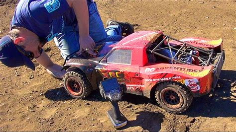 rc adventures canadian large scale project large 2 0 carnage on my backyard race track 1 5th