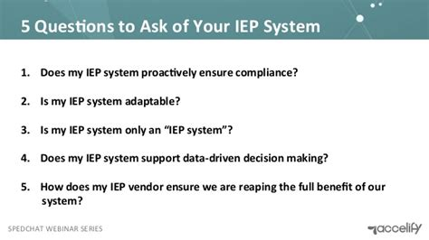 4 Questions To Make Your - your iep system work for you 5 questions to ask
