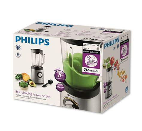 Blender Philips Hr 2958 Glass Jar philips avance collection blender 900w 2l glass jar spatula problend 6 hr2195 01 ebay
