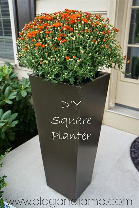 Planters Diy by Square Planters A Diy Tale Andiamo