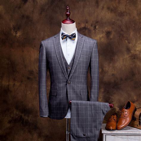 2015 new arrival plaid men suit fashion design mens black 2015 new arrivals classic retro england plaid style men