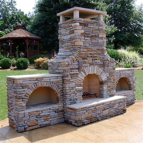 outdoor masonry fireplace 42 in firerock arched masonry outdoor wood burning fireplace