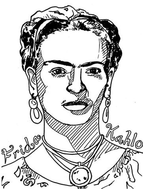 Frida Kahlo Coloring Pages Sketch Coloring Page Frida Kahlo Coloring Pages