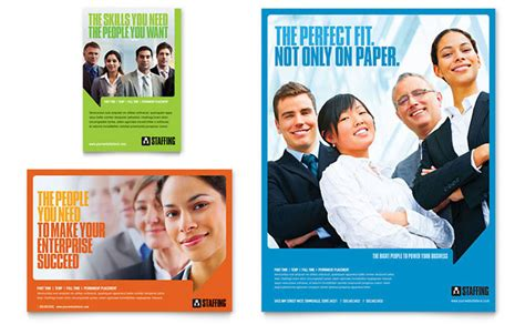 staffing amp recruitment agency flyer amp ad template design